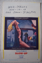 Blow-Up, US Window Card, David Hemmings, Vanessa Redgrave, Ultra rare! , '67